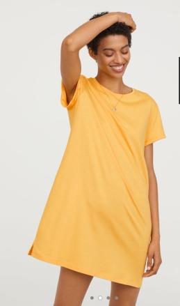 H&M yellow t-shirt dress