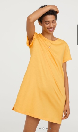 H&M yellow t-shirt dress