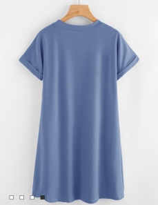 ROMWE Blue t-shirt dress