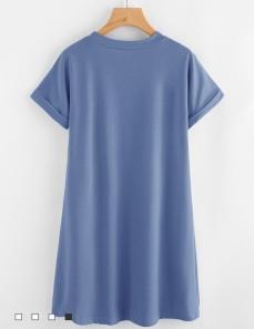 ROMWE Blue t-shirt dress