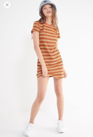 Urban outfitters striped t-shirt dress